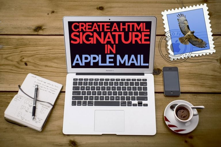 how to create a HTML signature in Apple Mail