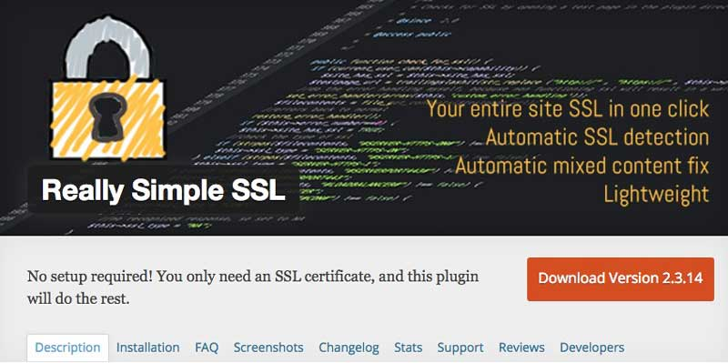 really simple ssl plugin for wordpress