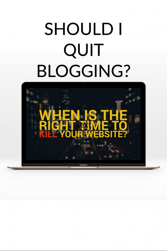 stop blogging - when to quit?