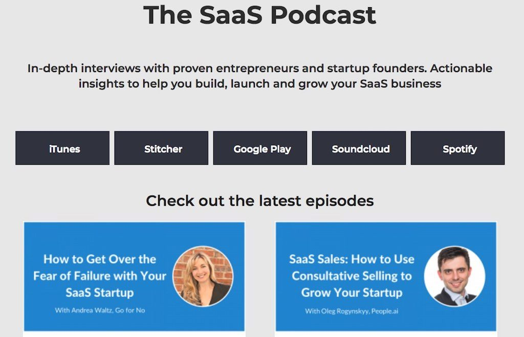 SaaS podcast for entrepreneurs