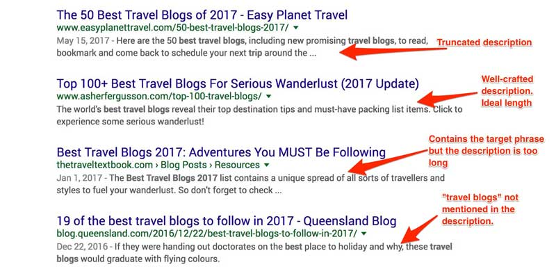 best meta descriptions for blog posts