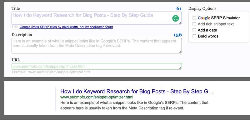 seomofo serp blog title headline results viewer