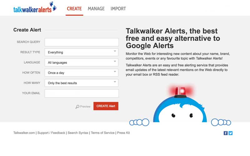 talkwalker google alerts alternative
