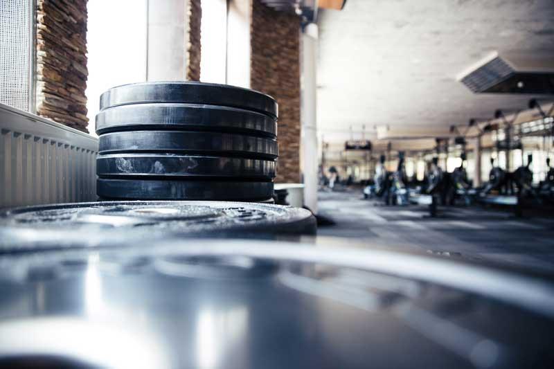 interior of a local gym