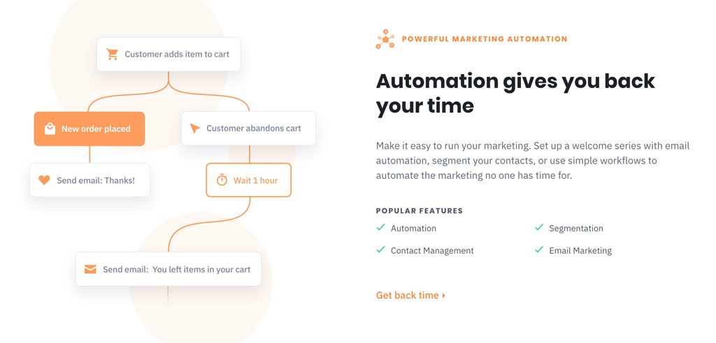 Active Campaign - Mailchimp alternative email marketing automations