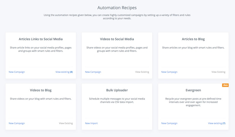 contentstudio automation recipes