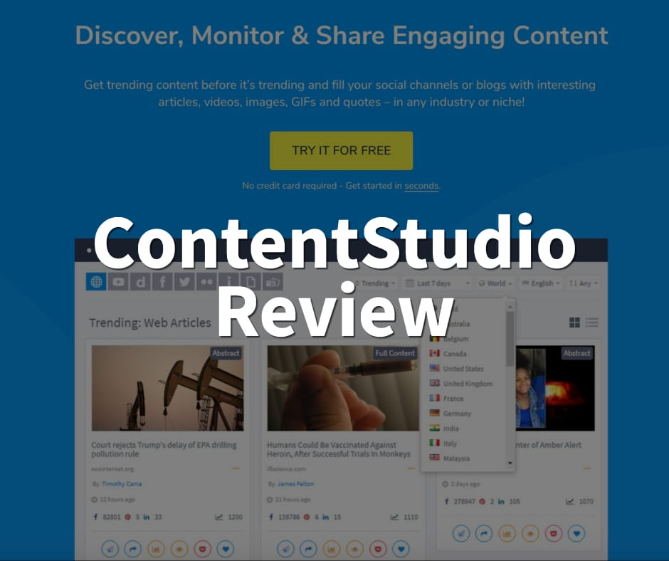 ContentStudio Review - Killer Social Media Marketing Tool