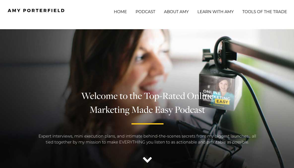 Amy Porterfield marketing made easy podcast for entrepreneurs