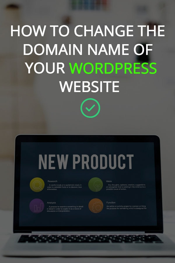 How to change the domain name of your WordPress website
