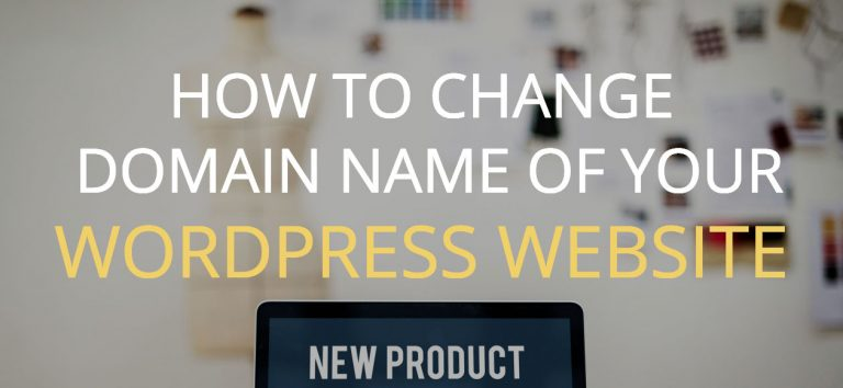 How to change domain names of WordPress websites
