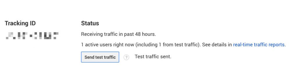 testing traffic in google analytics