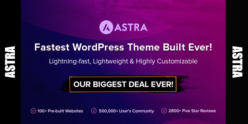 astra wordpress theme black friday lifetime deal