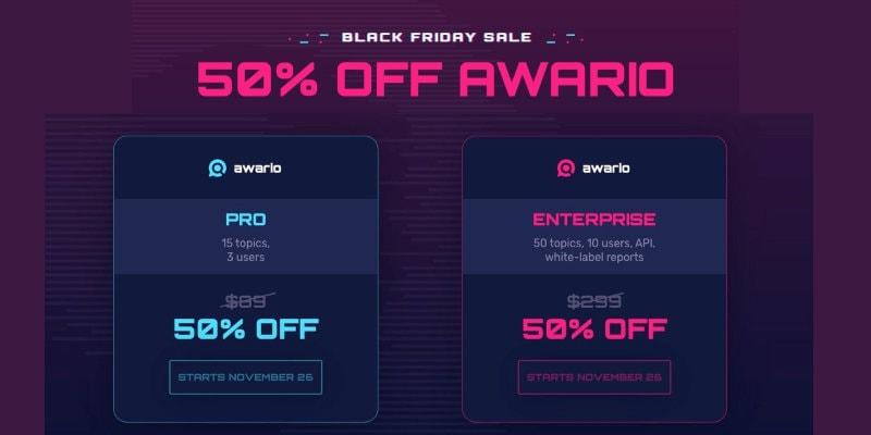 Awario black friday sale