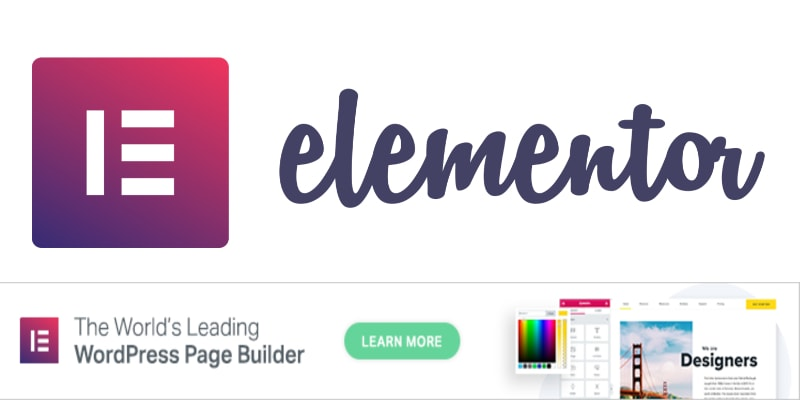 elementor leading page builder
