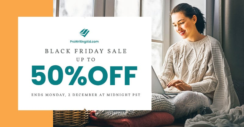 prowritingaid black friday lifetime deal 50 percent off