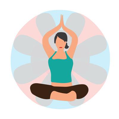 image of woman doing yoga