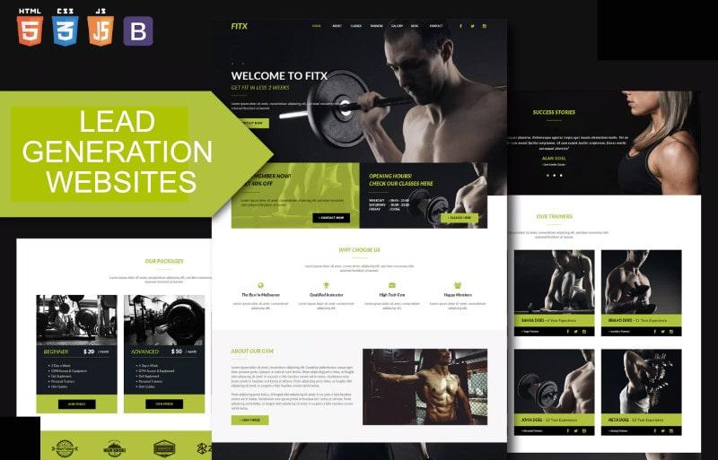 lead generation gym websites