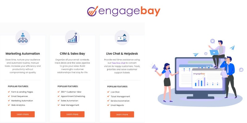 EngageBay CRM and email marketing
