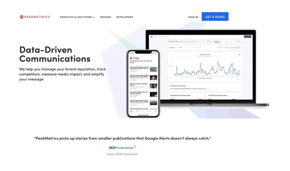 peakmetrics media monitoring tool
