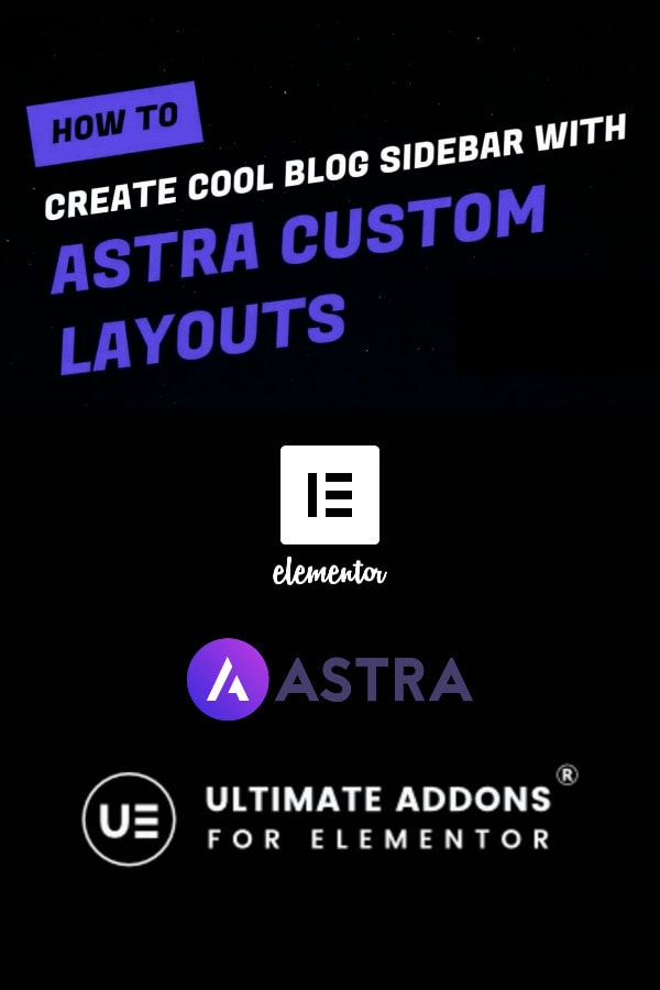 Custom A Sidebar With Astra Theme And Elementor Pin 1