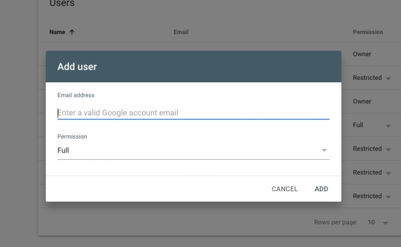 Add User Email Address