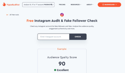 Hype Auditor Instagram Follower Analysis