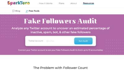 Sparktoro Fake Followers Audit Tool
