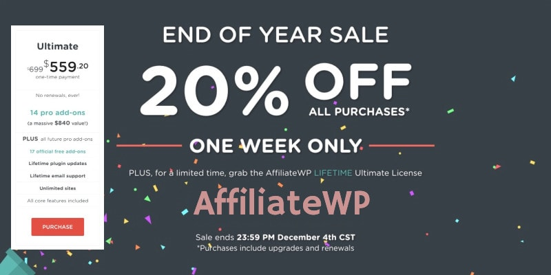 Affiliate Wp Black Friday Lifetime Deal