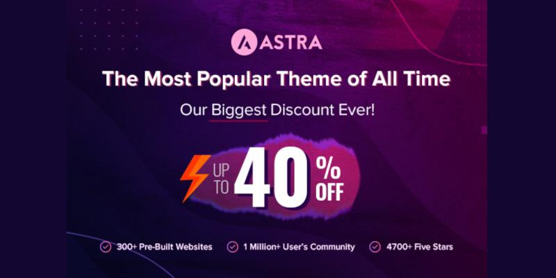 Astra WordPress Theme Black Friday Lifetime Deal