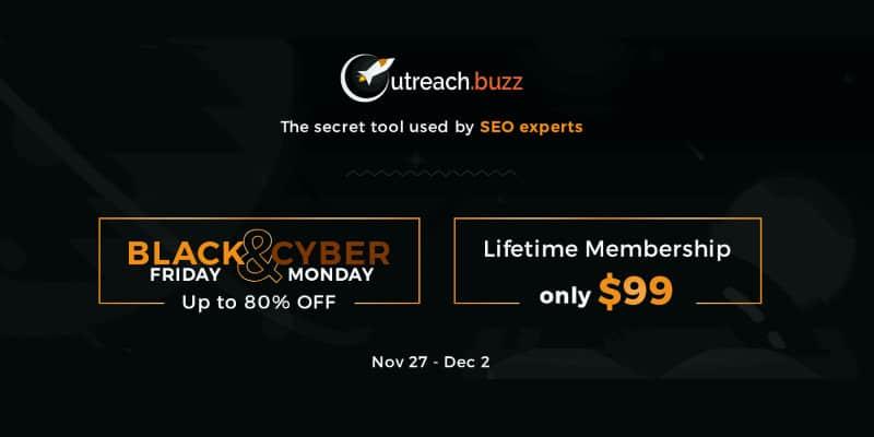 Outreach Buzz Cyber Monday Lifetime