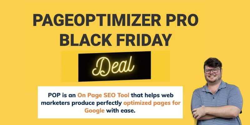 Pageoptimizer Pro Seo Tool Black Friday 2020