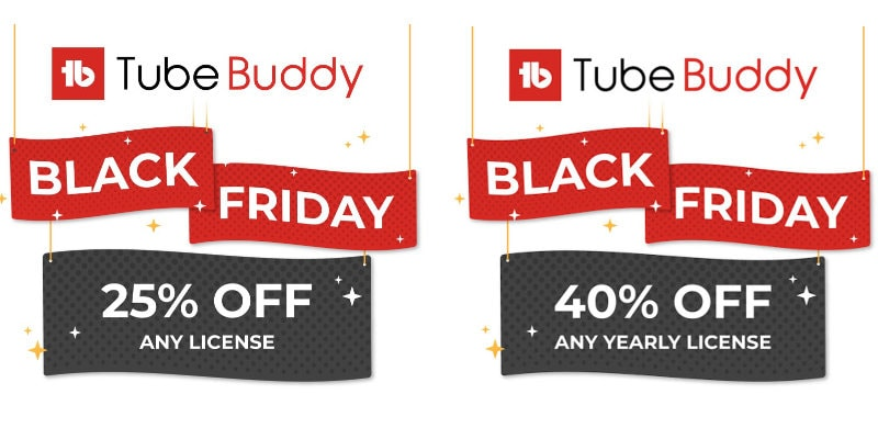 Tube Buddy Black Friday Discount