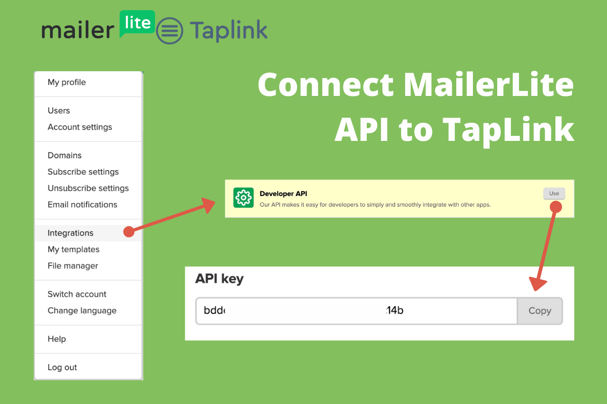 Connect Mailerlite Api To Taplink