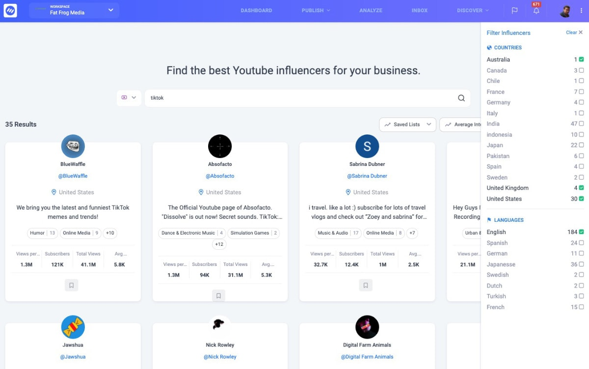 Influencer Analytics And Discovery
