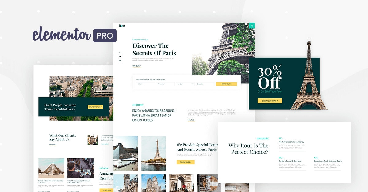 Elementor Pro Travel And Tours Theme Builder
