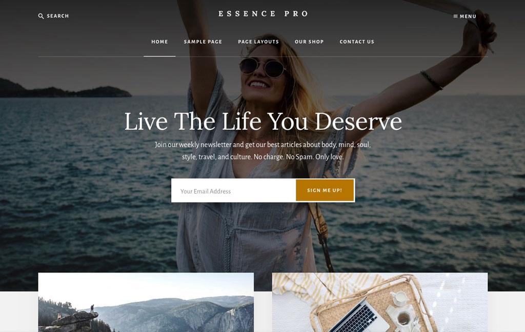 Essence Pro WordPress Theme By Studiopress
