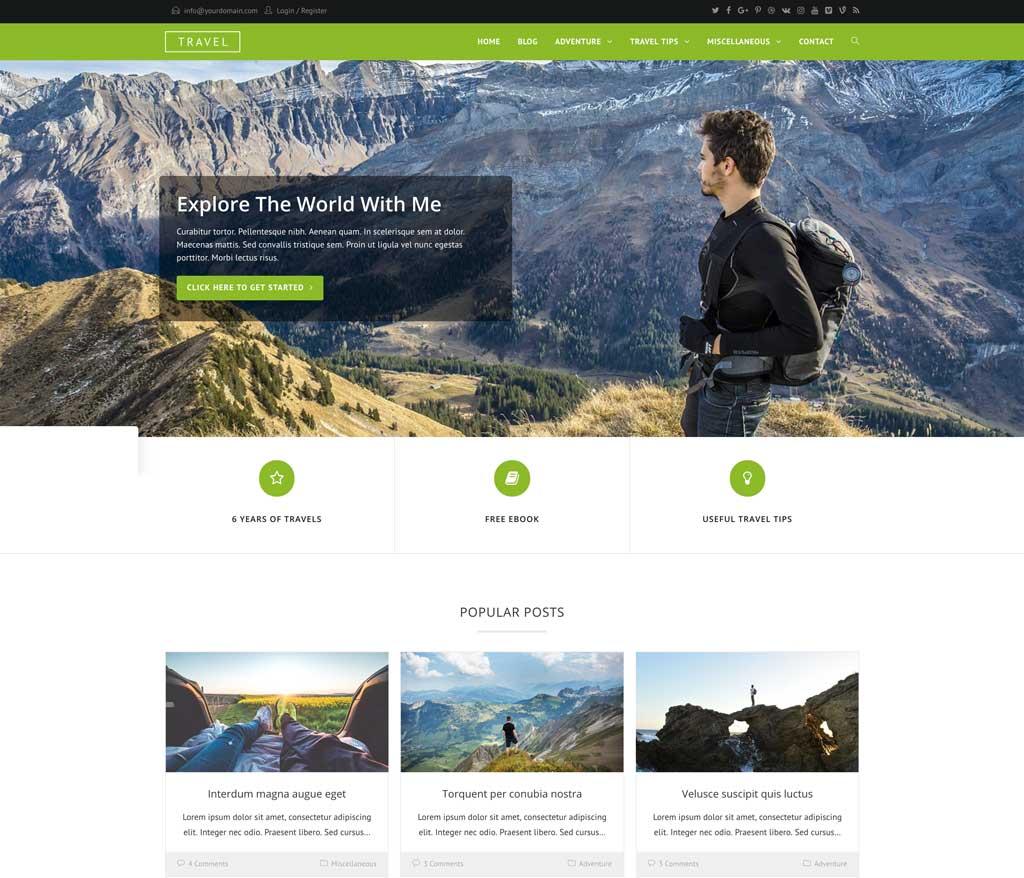 Oceanwp Travel Theme For WordPress Websites