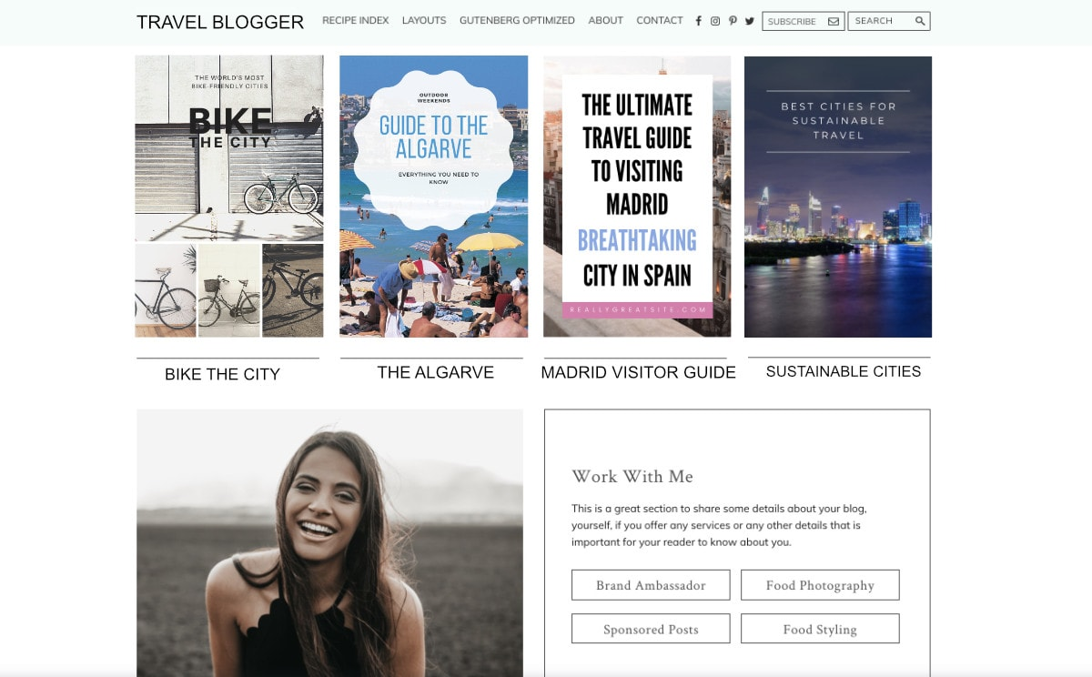 Travel Blogger Recipe Blogger Mockup