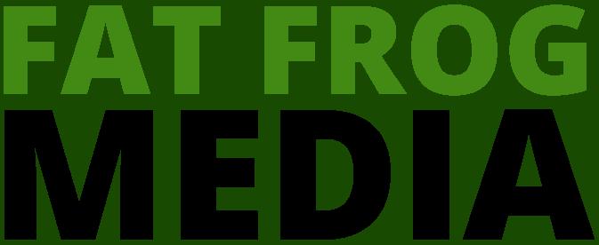 fat frog media marketing web logo