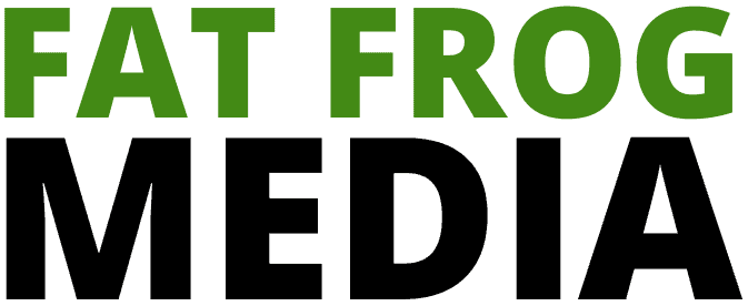 fat frog media marketing web logo