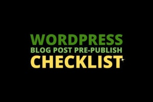 wordpress checklist before publish