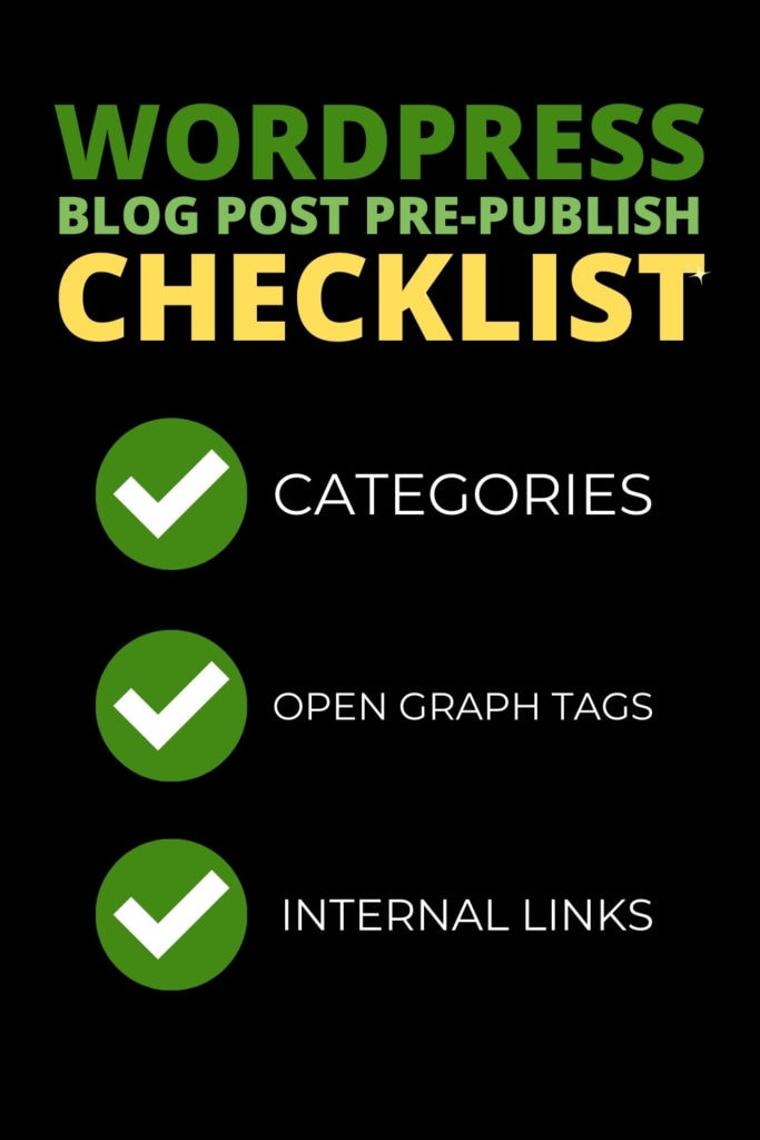 wordpress checklist before publish pinterest