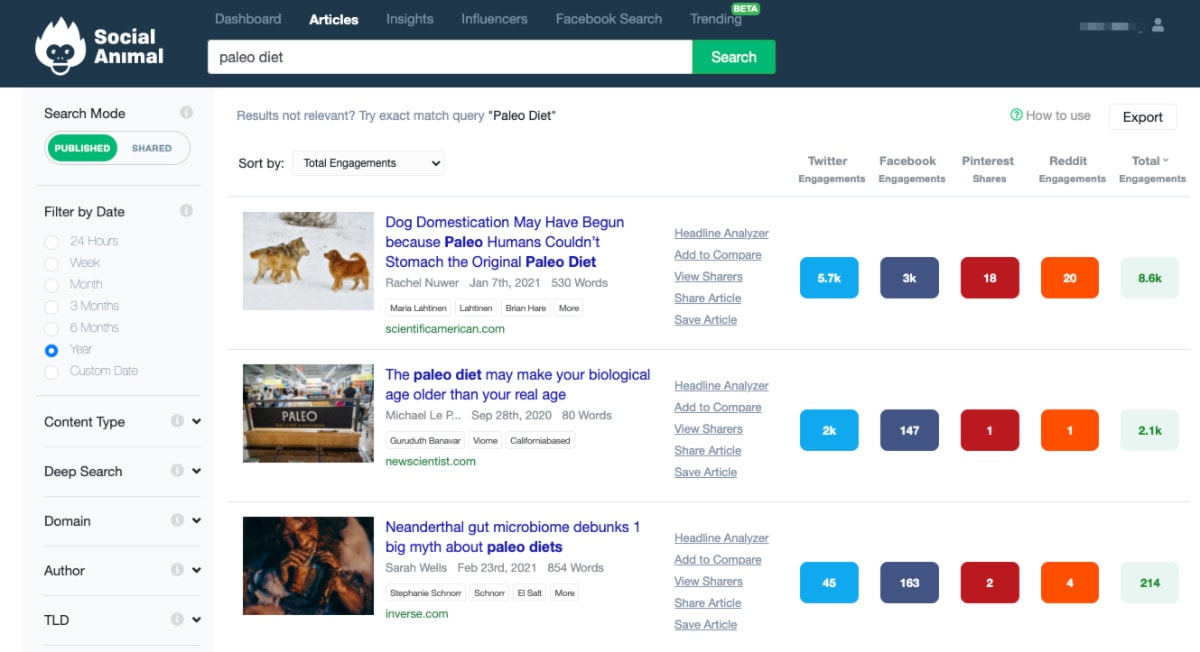 social animal content disovery and curation tools