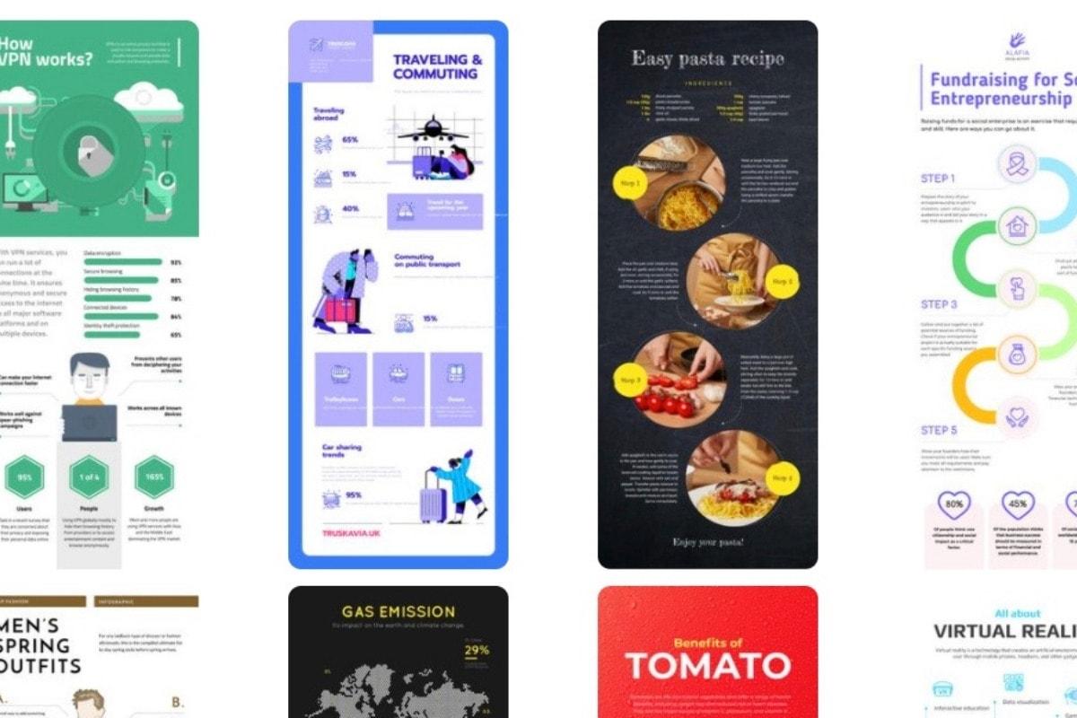 crello infographic templates