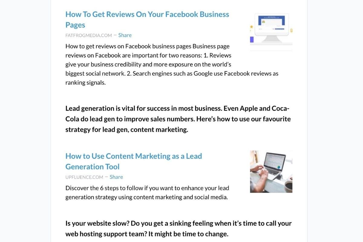 revue newsletter platform example email
