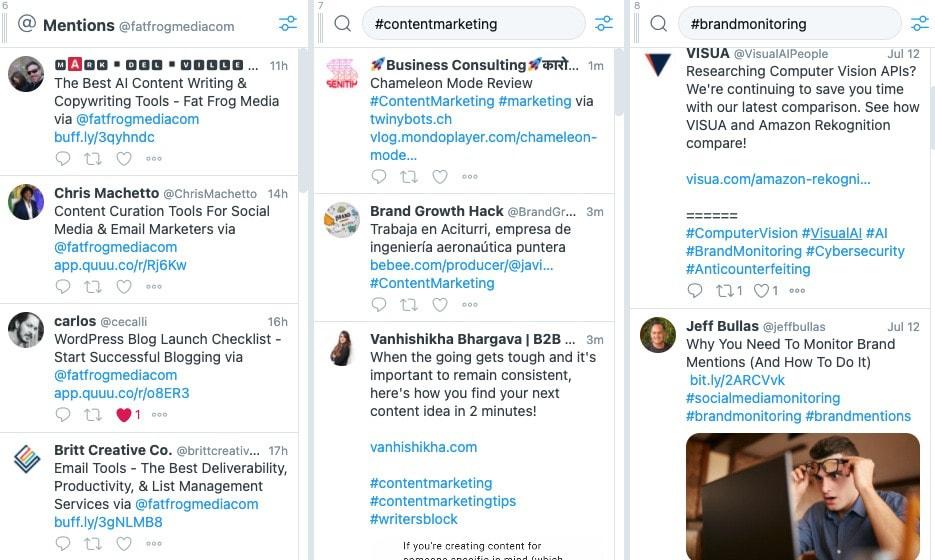 twitter tweetdeck brand monitoring service