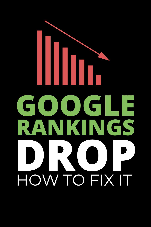 google ranking dropped dramatically
