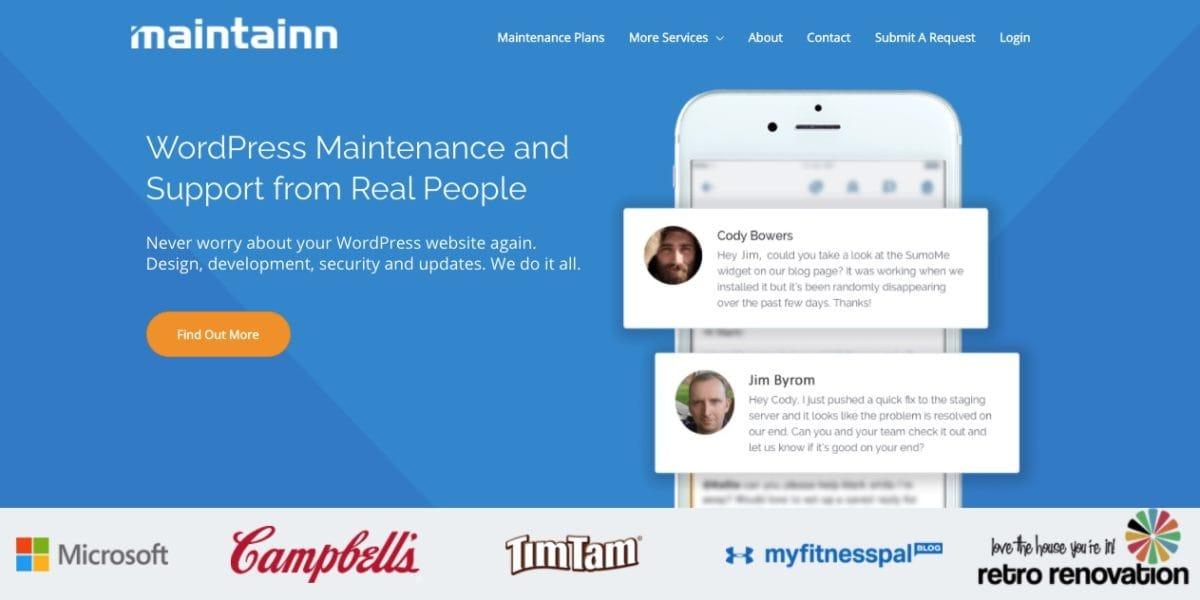 maintainn wordpress website management service